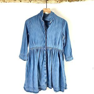 Gap Girls Chambray Denim Long Sleeve Dress - XXL